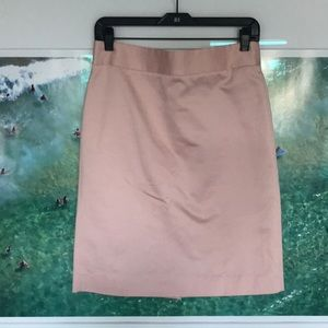 J. Crew Light Pink Cotton Pencil Skirt